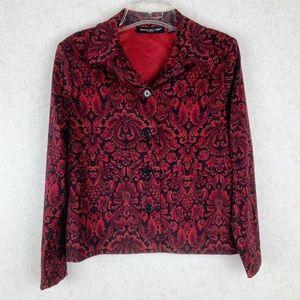 Briggs New York damask pattern blazer